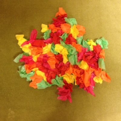 Colorful Tissue Leaves