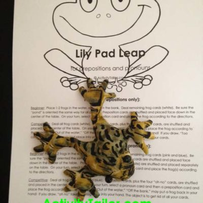 Lily Pad Leap for pronouns and prepositions
