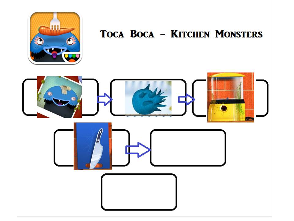 toca kitchen monsters - activity tailor