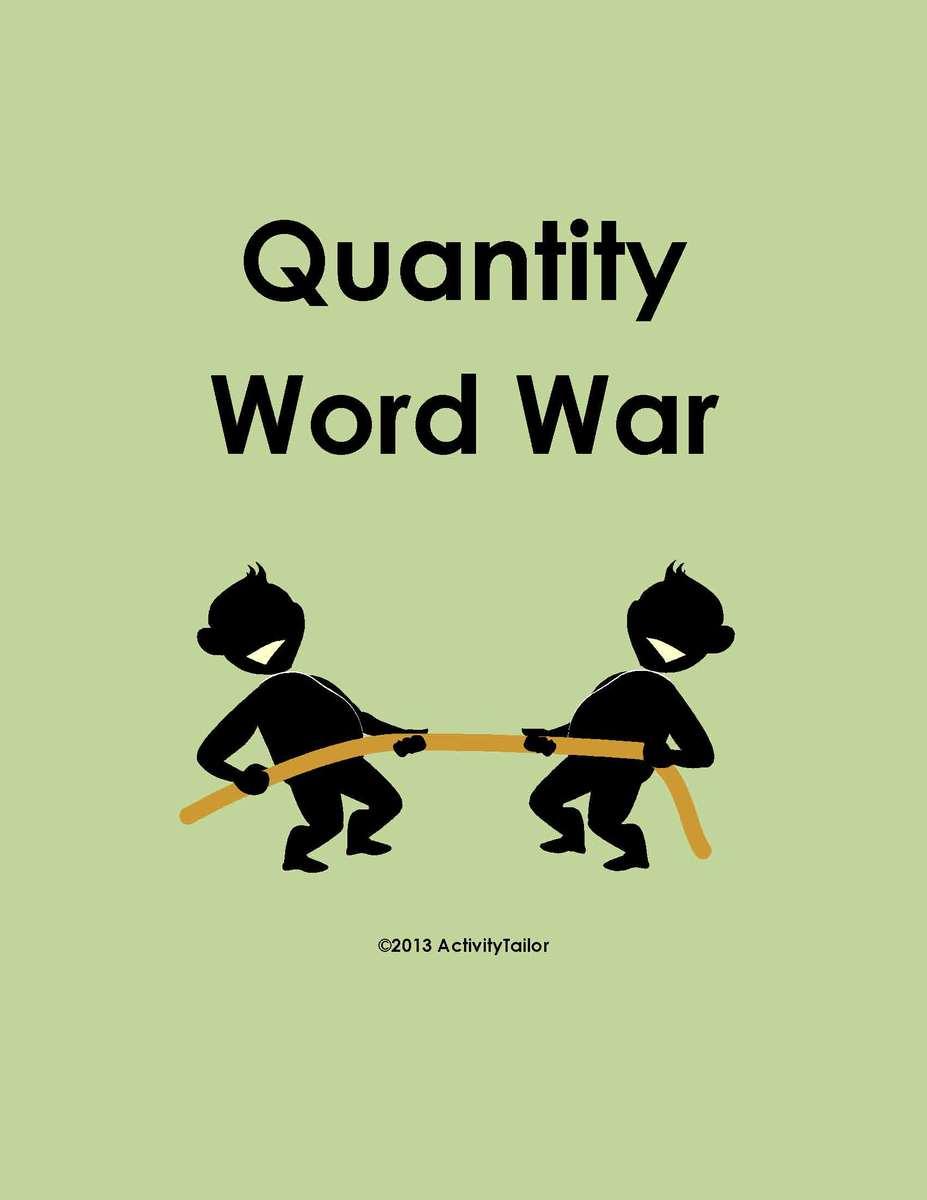 quantity word war activity tailor