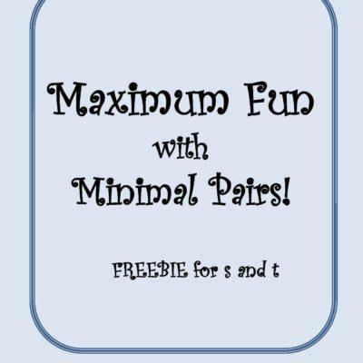 Maximum Fun with Minimal Pairs! (FREEBIE!)