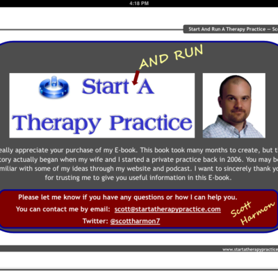 Start and Run a Therapy Practice