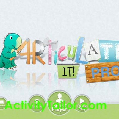 App Review and Giveaway: Articulate It!