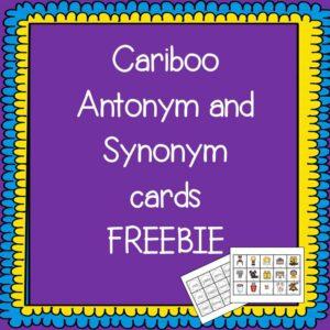 Cariboo Antonym synonym FREEBIE Cover