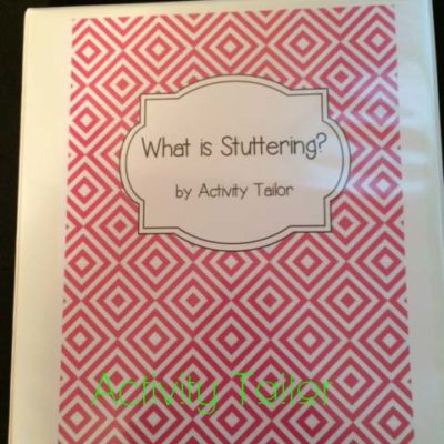 What is Stuttering?  Educational notebooks for therapy and classroom lessons