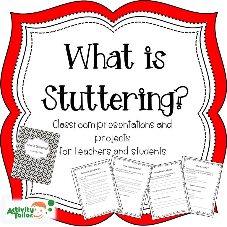 What is Stuttering? Educational notebooks for therapy and classroom ...