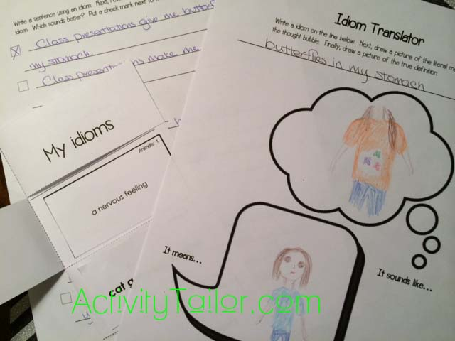 Fun Worksheets For Adults : Go figure! fun with idioms activity tailor