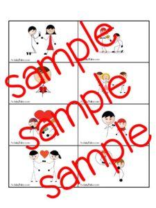 relationship card sample