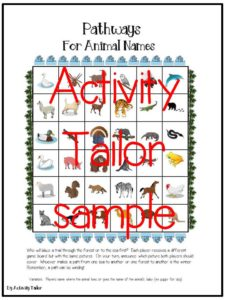 Free activity for working on animal vocabulary, animal babies or where animals live