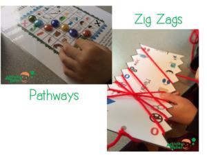 Pathways and zig zag samples