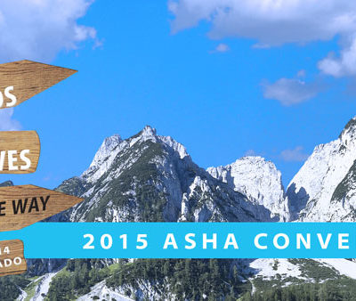 Find Me at #ASHA15!