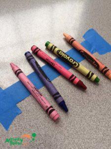 Painters tape crayon holder copy