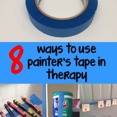 8 Ways to Use Painter's Tape in the Therapy Room