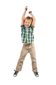 Boy jumping for movement post
