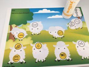 lambs with dauber