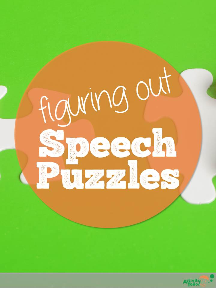 Figuring out speech puzzles