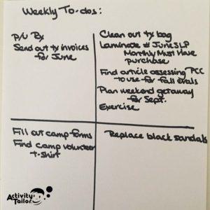 Weekly grid copy