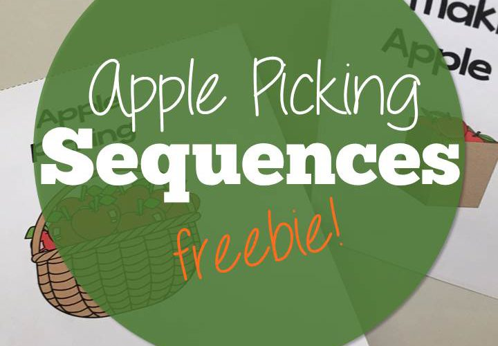 Sequencing Mini-books with an Apple Picking themed FREEBIE!