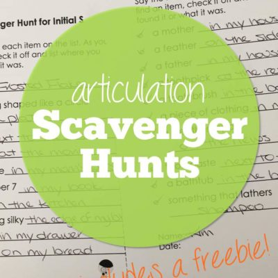 Articulation Scavenger Hunts plus a Freebie!
