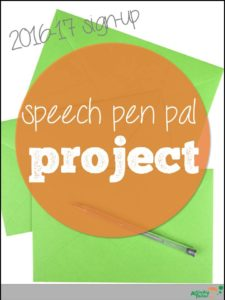 speech pen pal 2016 sign up