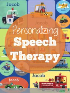 Personalizing speech therapy