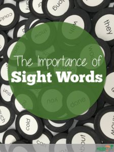 Importance of Sight words