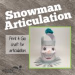 snowman articulation craft cover