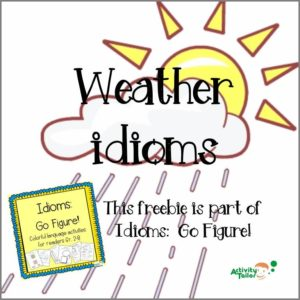 weather idioms cover with frame