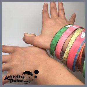 butterfly with bracelets
