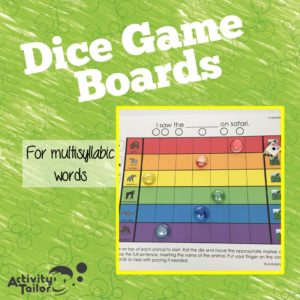 Multisyllabic Dice Game Boards cover