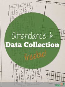 Attendance and Data Collection Freebie 2017-18