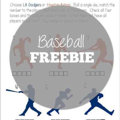 Dodgers vs. Astros Freebie!