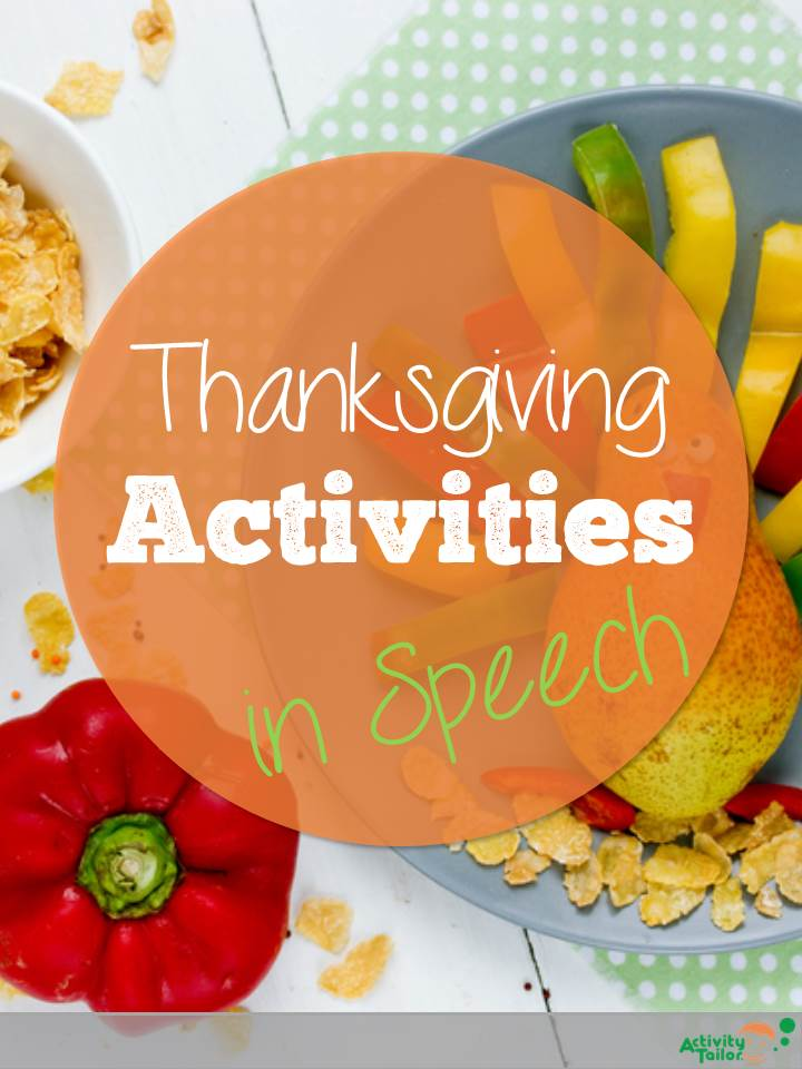 Thanksgiving Activities In Speech Activity Tailor