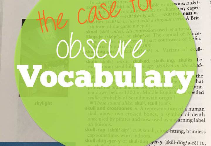 The Case for Obscure Vocabulary