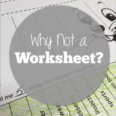 Why Not a Worksheet?