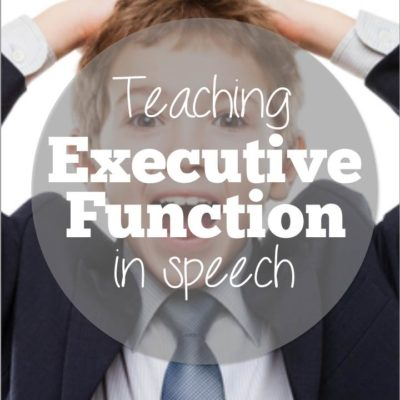 Teaching Executive Function Skills in Speech