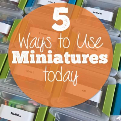 5 Quick Ways to Use Miniatures in Speech Today!