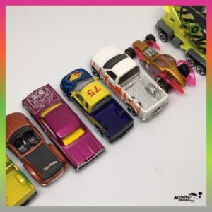 line of toy cars