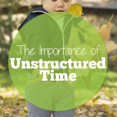 The Importance of Unstructured Time and When to Intervene