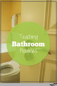 teaching school bathroom routines