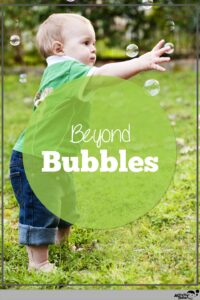 bubbles for early language development