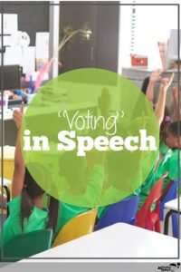 kids voting in speech therapy