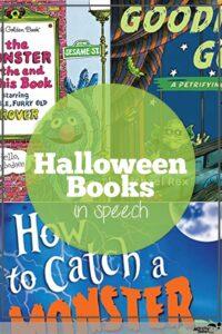 Halloween books in speech